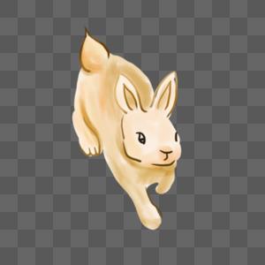 中秋节奔跑的玉兔图片