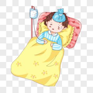 طفلة مريضة كرتون