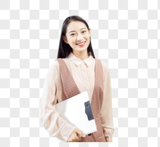 女性白领拿文件图片
