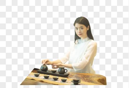 茶艺美女形象图片