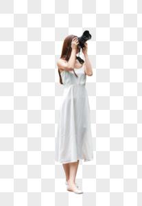 美女旅行相机拍照图片