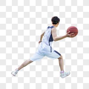 男青年篮球运球图片