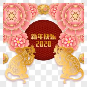 春节剪纸元素图片