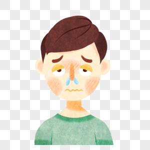 流鼻涕的男孩图片