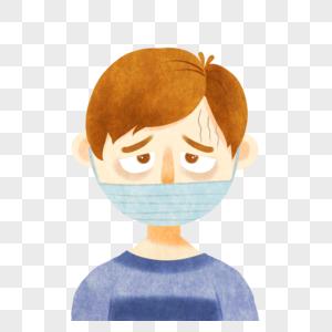 戴口罩的男孩图片