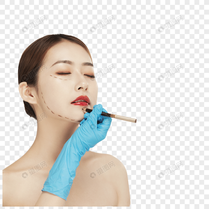医疗美容整形美女特写图片