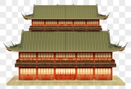 中式古代建筑3D建模图片