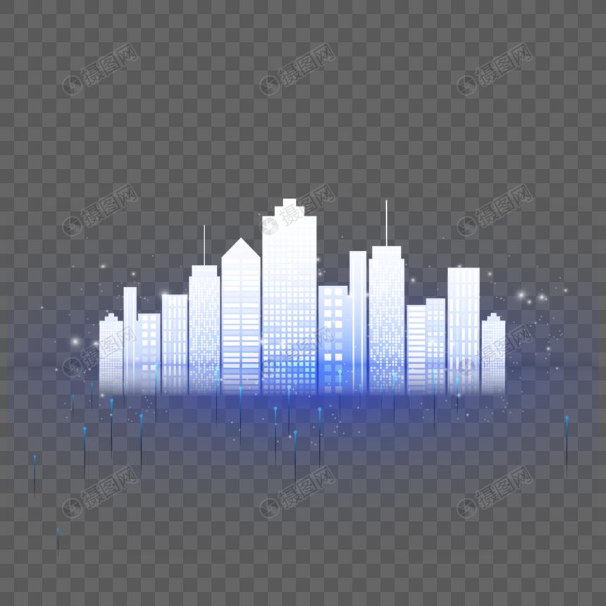 智能城市网络背景图片