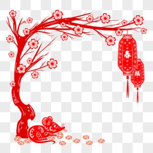 新春剪纸边框图片