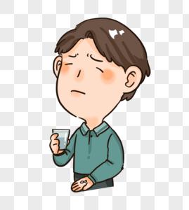 感冒生病吃药表情包图片