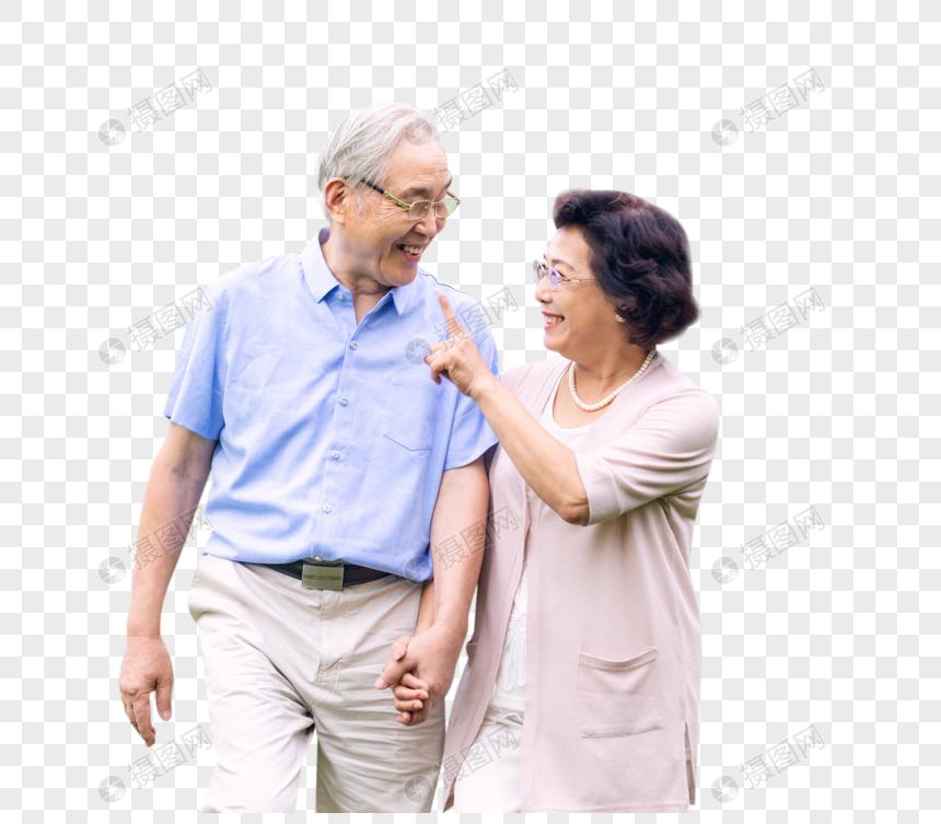 幸福的老年夫妇图片