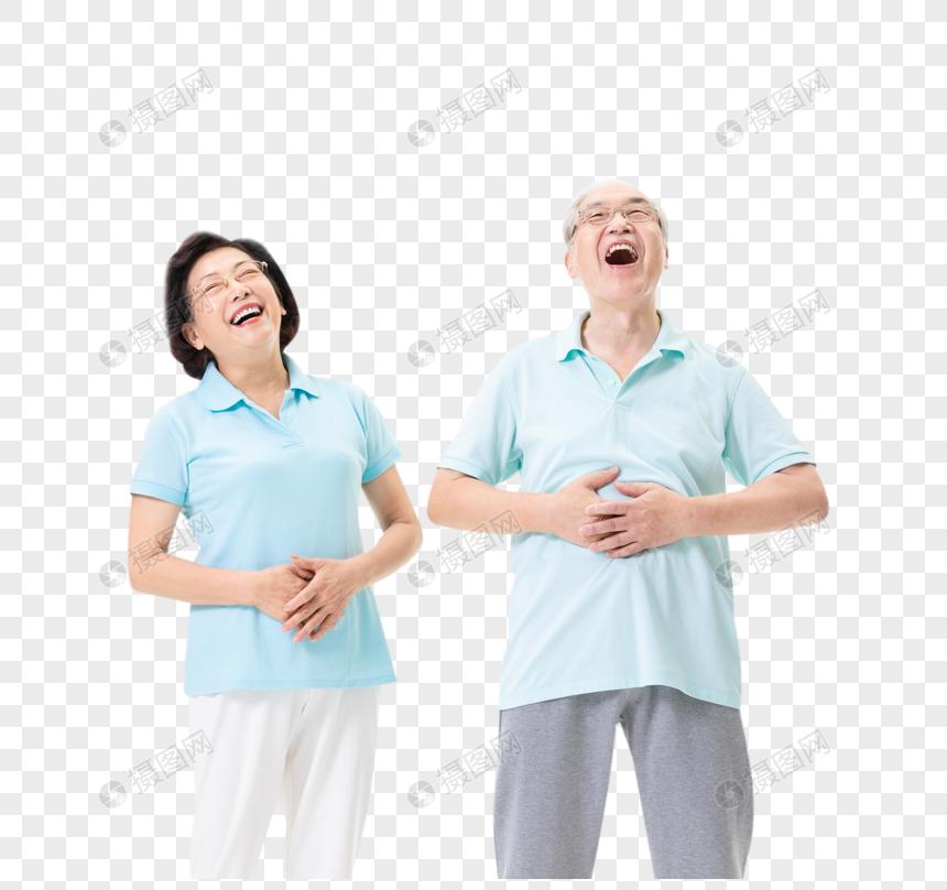 老年夫妇开怀大笑图片