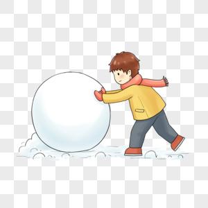 北极熊照片_滚雪球图片_滚雪球素材_滚雪球高清图片_摄图网图片下载