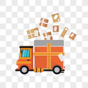 送货的货车图片