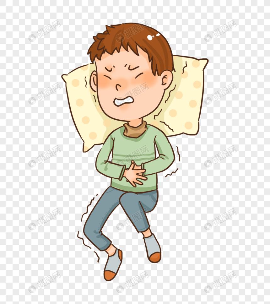 胃难受卡通图片_肠胃感冒生病肚子疼元素素材下载-正版素材401636303-摄图网