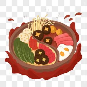 冬季火锅食材元素图片