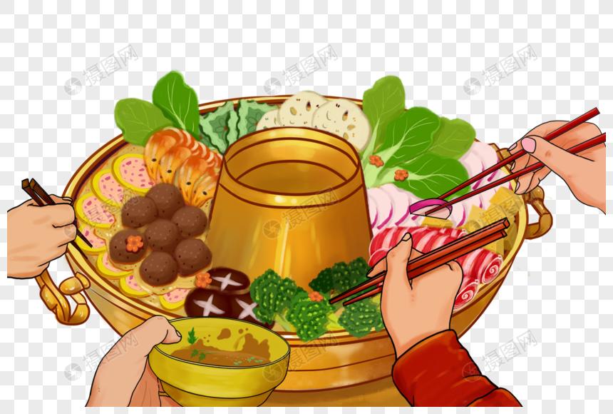 吃火锅场景图片