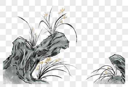 水墨水仙花图片