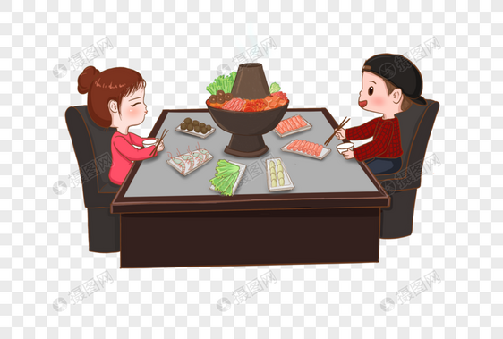 吃火锅图片