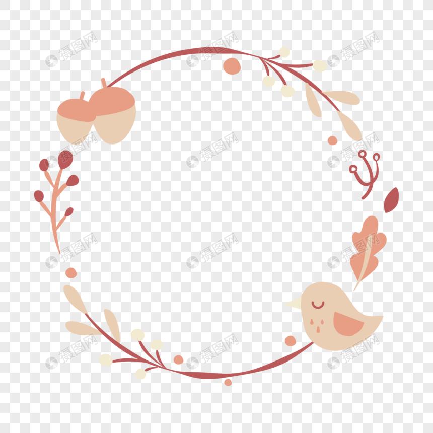 秋天植物边框图片