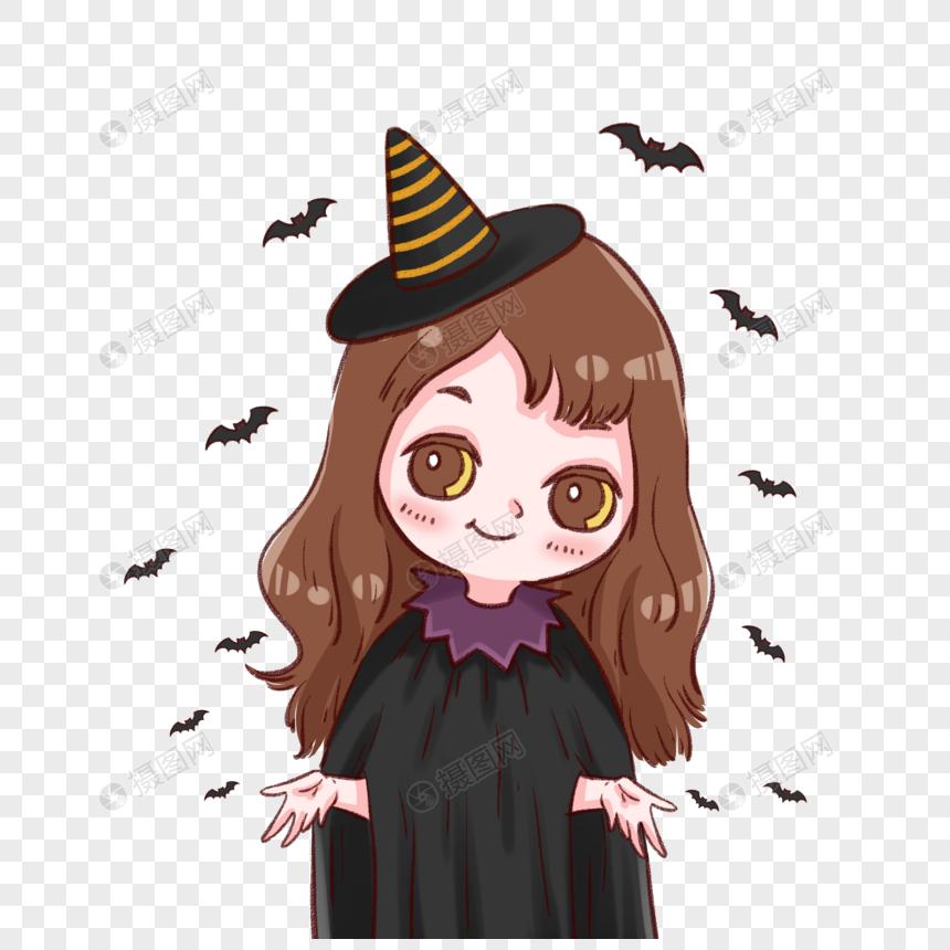 小女巫和蝙蝠图片