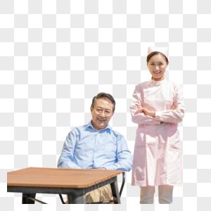 护士照顾老爷爷图片