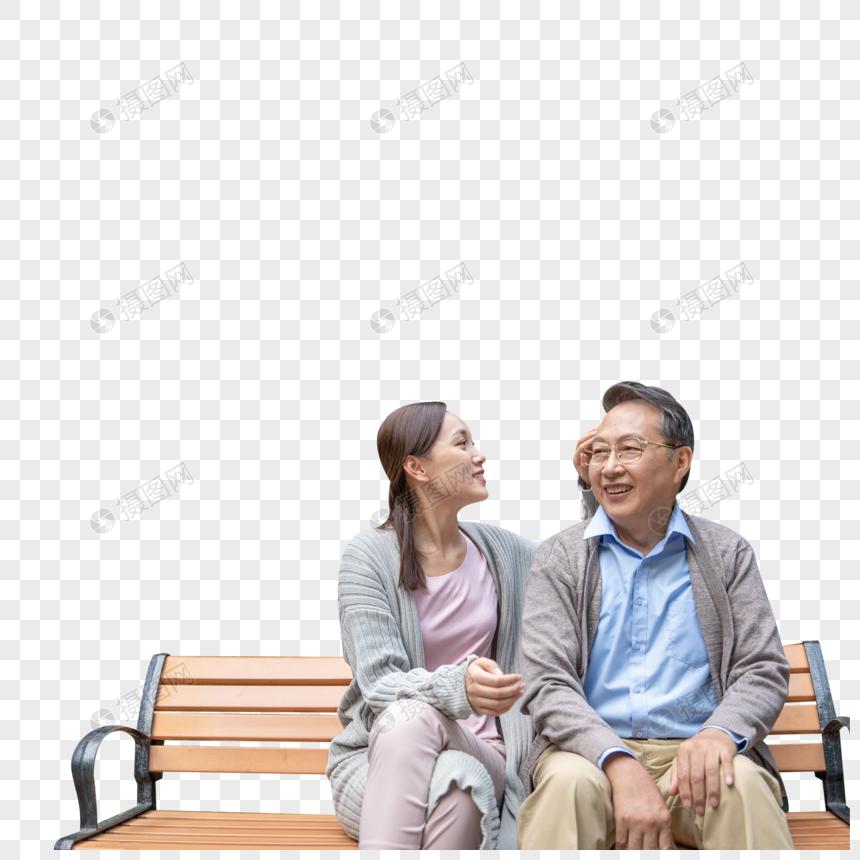 女儿陪伴父亲图片