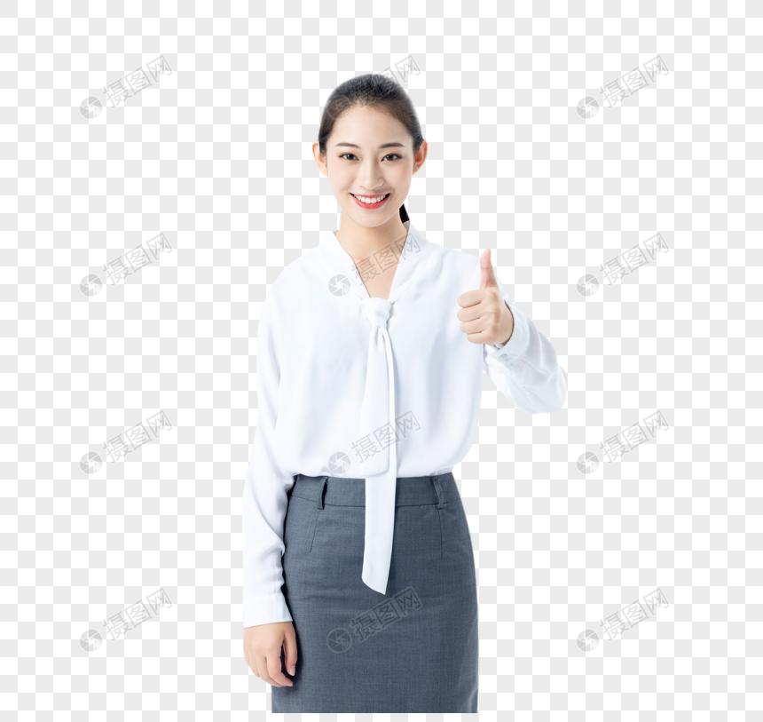 商务女性点赞图片