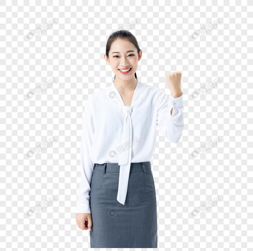 商务女性加油打气图片