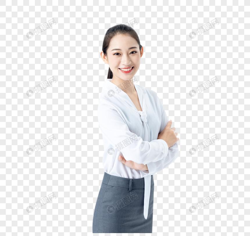 商务女性微笑图片