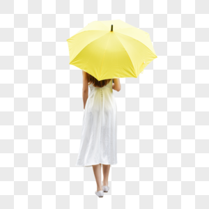 美女户外撑伞防晒图片