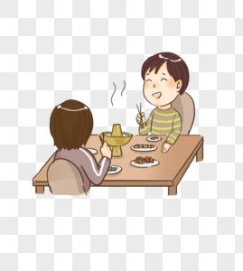 冬日里吃火锅聚餐图片