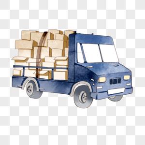 满载货物的货车图片
