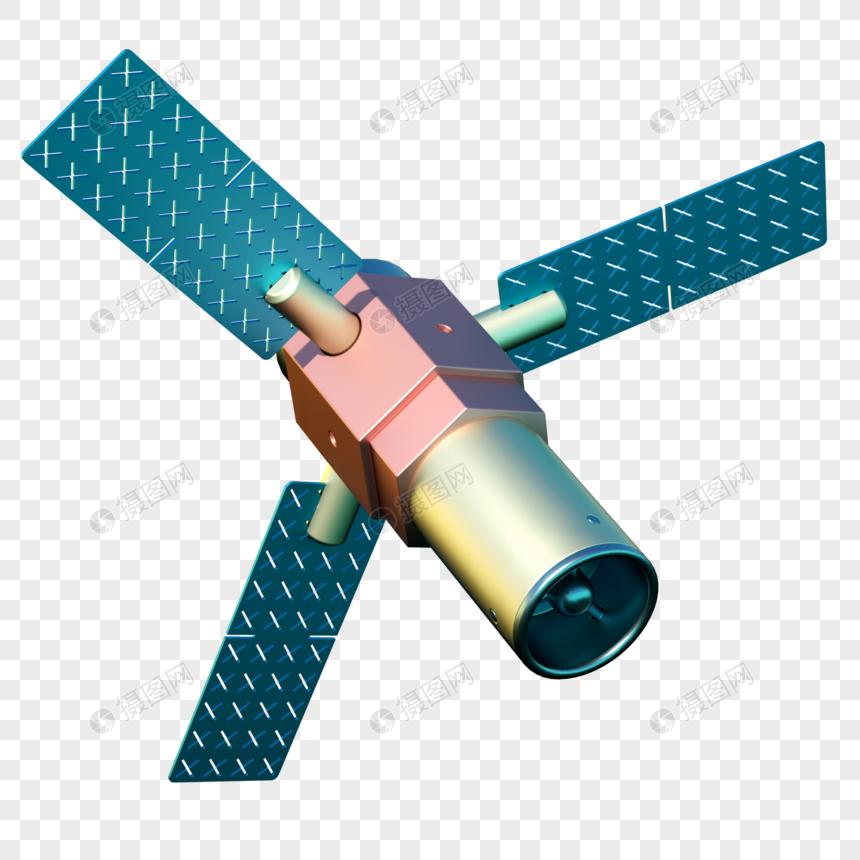 卫星航天太空登月三维模型科技图片