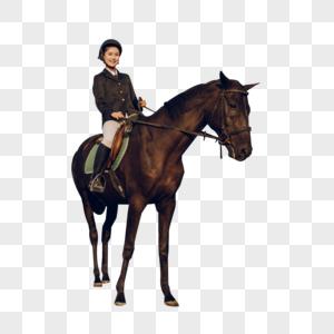 年轻女子骑马图片
