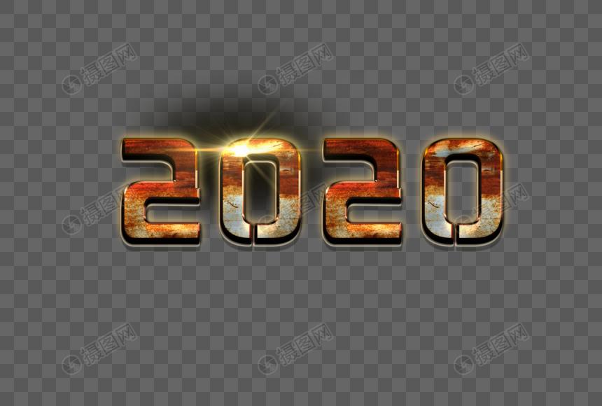 2020科技大片生锈金属质感图片