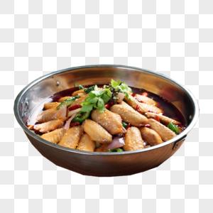 干锅鸡翅中图片