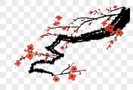 梅花手绘中国风元素图片