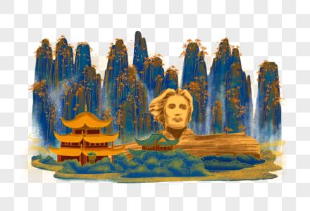 烫金城市美丽中国湖南图片