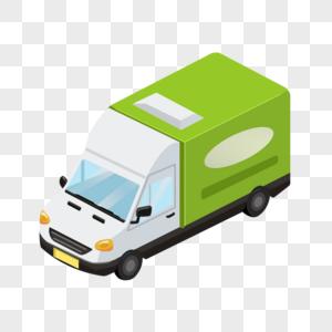 双11节日送货货车元素图片
