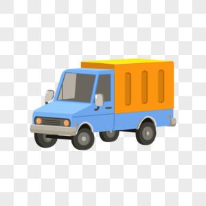 双11物流送货货车卡通元素图片