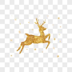 圣诞节飞奔的麋鹿图片