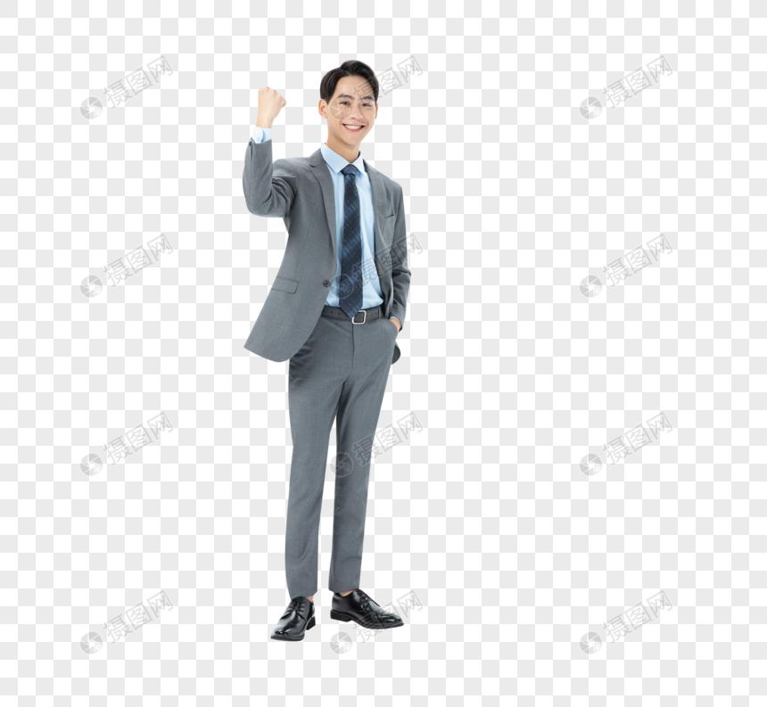 商务男性加油手势图片