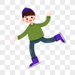 滑冰男孩图片