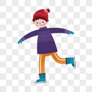 溜冰儿童图片