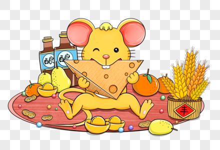 不愁吃穿的老鼠图片