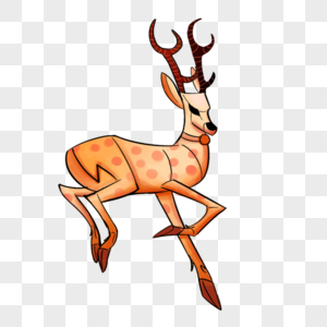 奔跑的圣诞节驯鹿图片