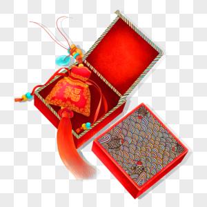 中国风喜庆新年福袋礼盒图片