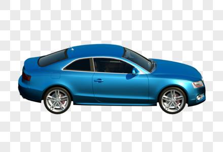 蓝色汽车3D建模模型图片