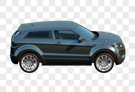 黑色汽车3D建模模型图片